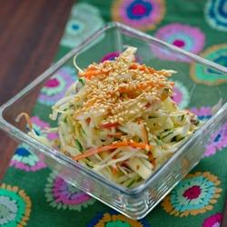 Apple Coleslaw, journey through the fall