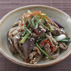 Beef with Eggplant, This is not a stir-fry!