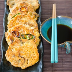 Savory Mung Bean Pancakes, Bindaetteok