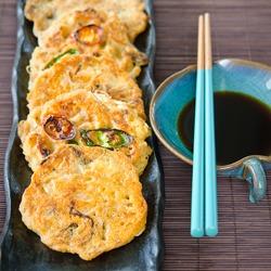Savory Mung Bean Pancakes (Bindaetteok)
