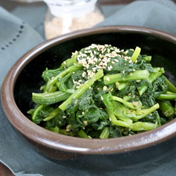 Korean spinach my way, Popeye! where are you?