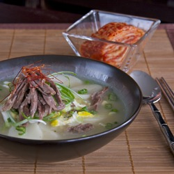 Rice Cake Soup (tteok-guk)