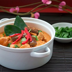 Thai Red Chicken Curry, Sawadtee Kaa!
