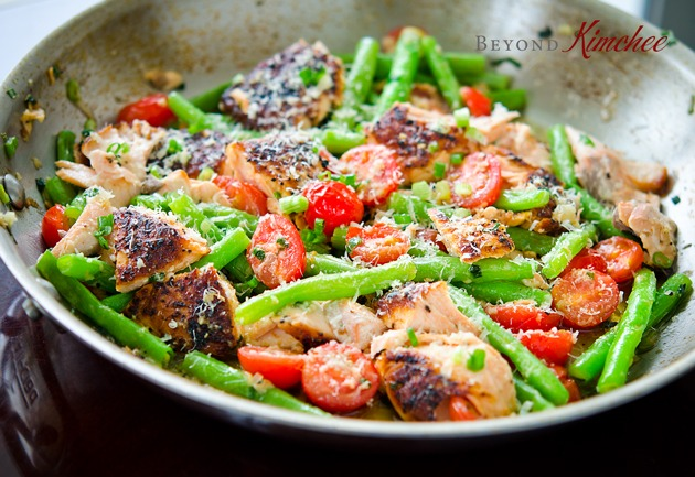 Salmon with Green Beans and Tomatoes 2