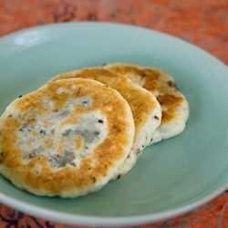 Hotteok, the Korean sweet pancakes