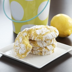 Lemon Coconut Crackle Cookies, thing 1 and thing 2