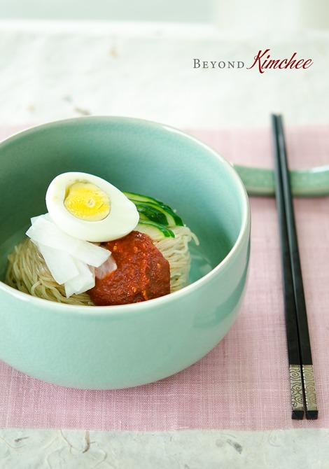 Naengmyeon, Korean style spicy cold noodles