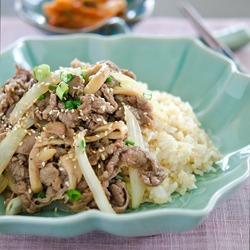 Korean Beef Rice Bowl, the quick version