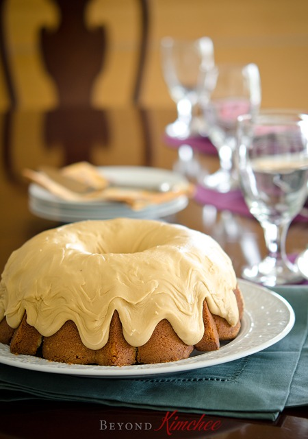 Spice Cake with Caramel Icing