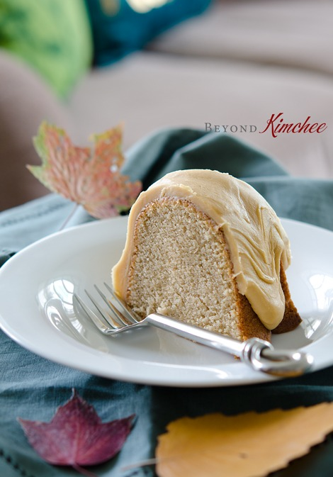 Spice Cake with Caramel Frosting