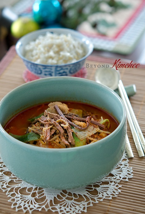 Yukgaejang, the spicy Korean beef stew
