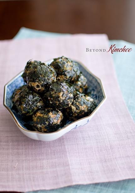 Kimchi Tuna Rice Balls