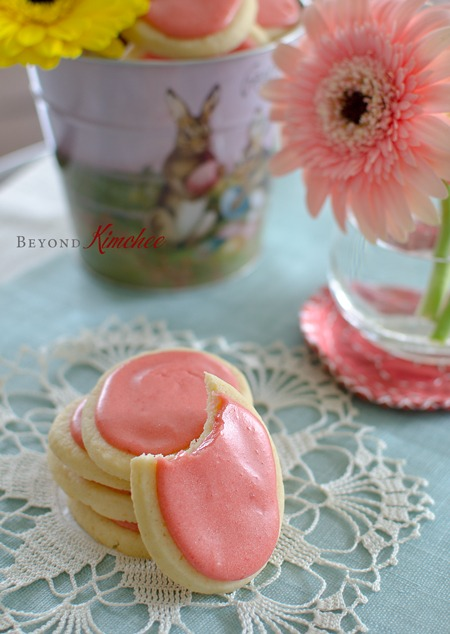 Soft Sugar Cookies with Fresh Strawberry Icing