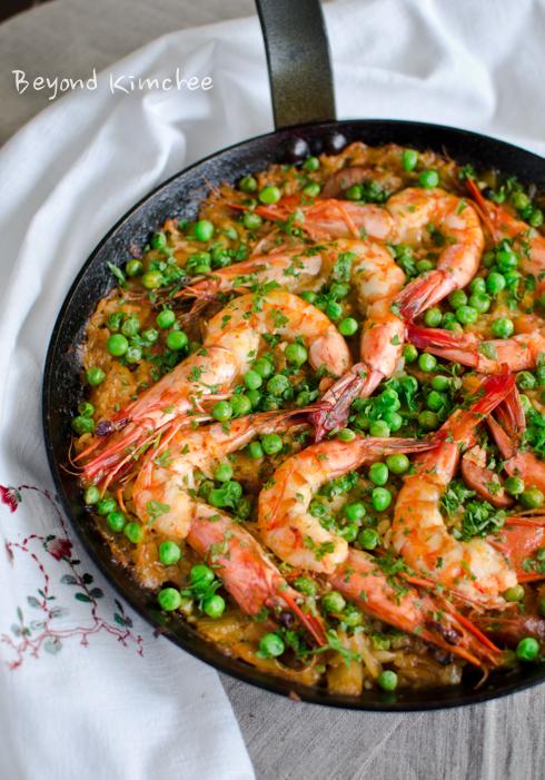 Kimchi Chorizo Shrimp Paella-A