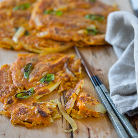 Curry Kimchi Pancakes