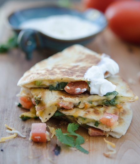 Tomato Cheese Quesadilla-D