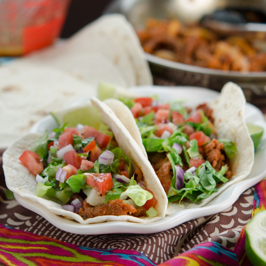 Spicy Korean Pork Taco with Soy Lime Vinaigrette