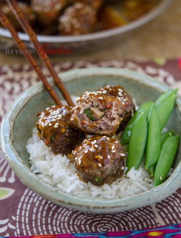 alls with Pineapple Soy Glaze