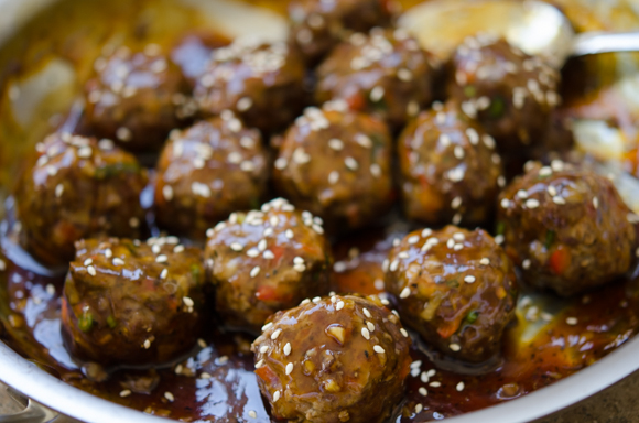 Korean beef meatballs