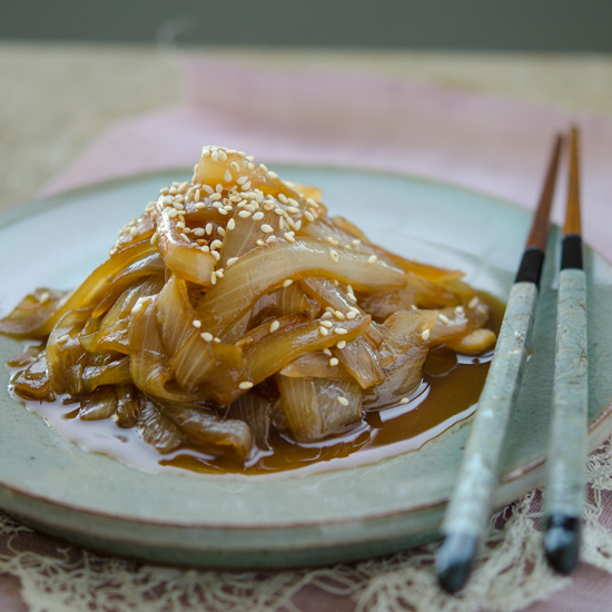 Soy Braised Onion