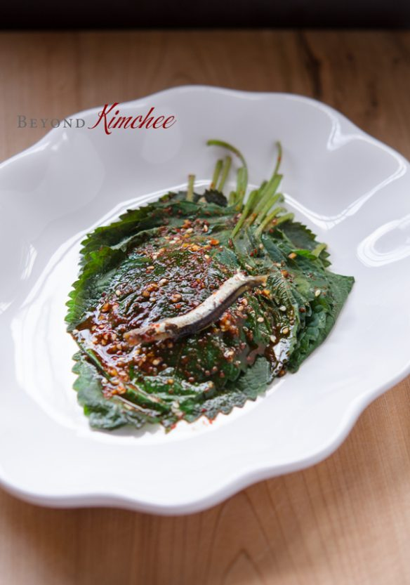 Quick Steamed Perilla Leaves