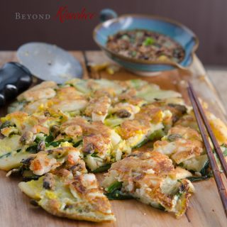 Seafood Green Onion Pancakes (해물파전, Hamul Pajeon), and Korea Style Book Giveaway
