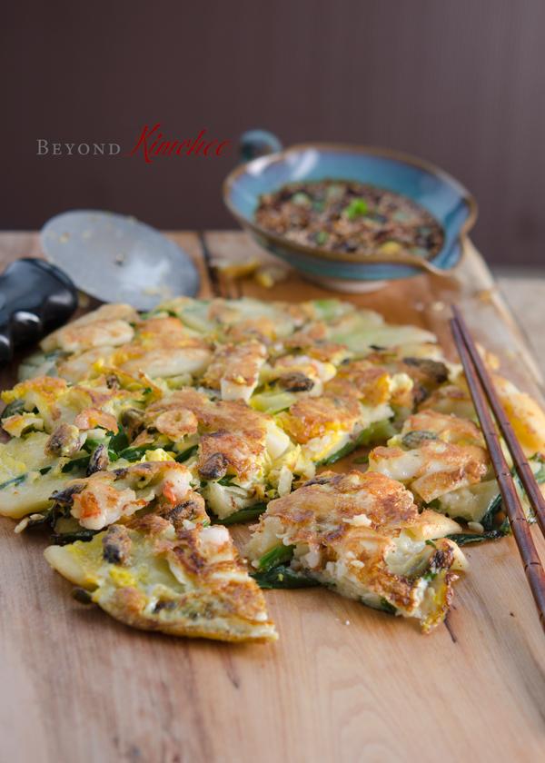 Seafood Green Onion Pancakes (해물파전, Hamul Pajeon)