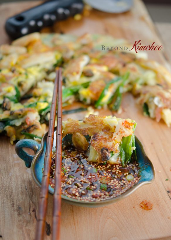 Green Onion Pancakes with Seafood