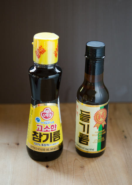 sesmae oil and wild sesame oil
