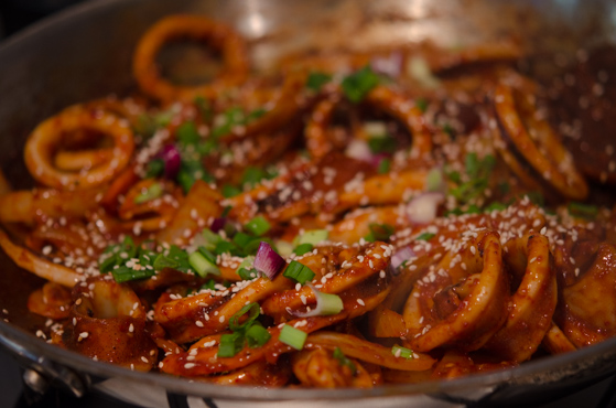 Korean spicy squid
