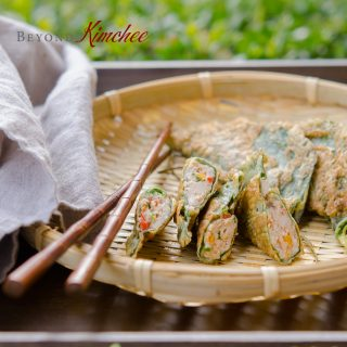 Perilla Leaves Dumplings with Pork