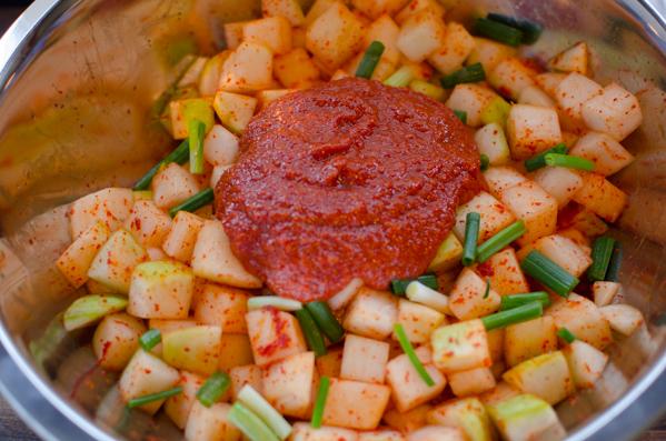 Cubed Radish Kimchi