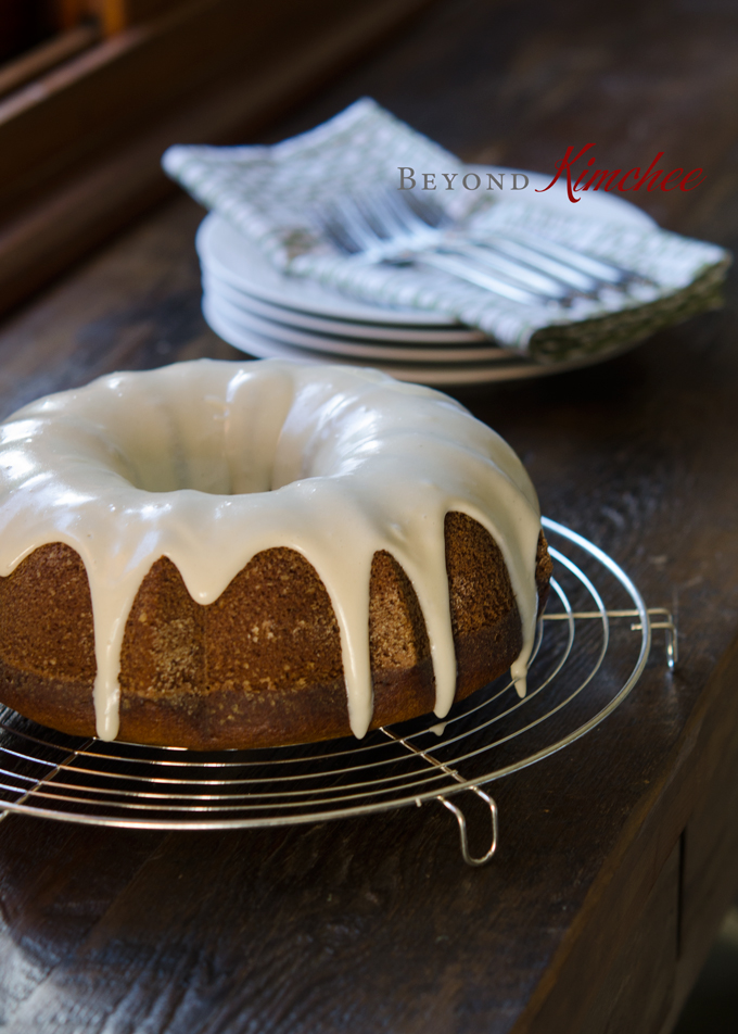 Pumpkin Bundt Cake with Cream Cheese Maple Glaze