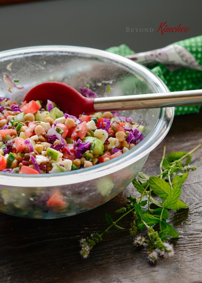 Chickpea Lentil Salad