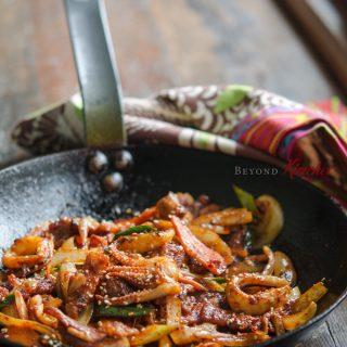 Spicy Pork and Squid Stir-fry, 오삼 불고기