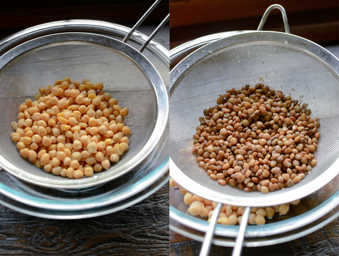 Chickpeas and lentil