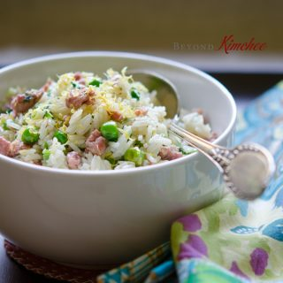 Sausage Pea Lemon Rice