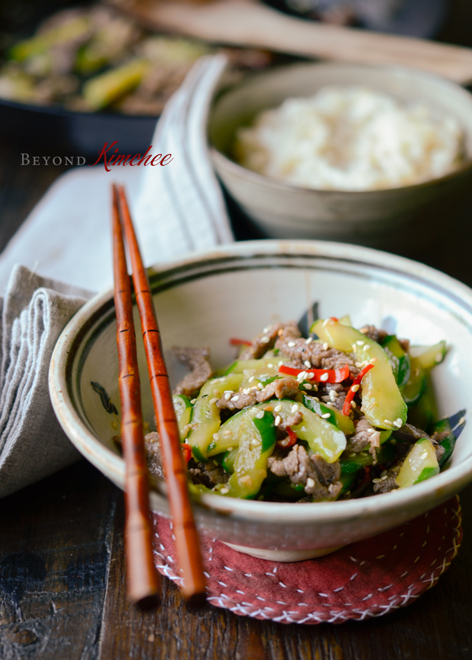 Beef and Cucumber Stir-fry