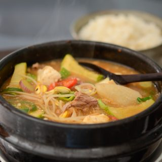 Beef and Bean Sprout Soybean Paste Stew