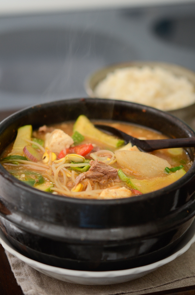 Beef Bean Sprout Soybean Paste Stew