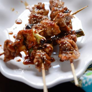 Teriyaki Chicken Skewers and Livart Orange BBQ Grill Giveaway