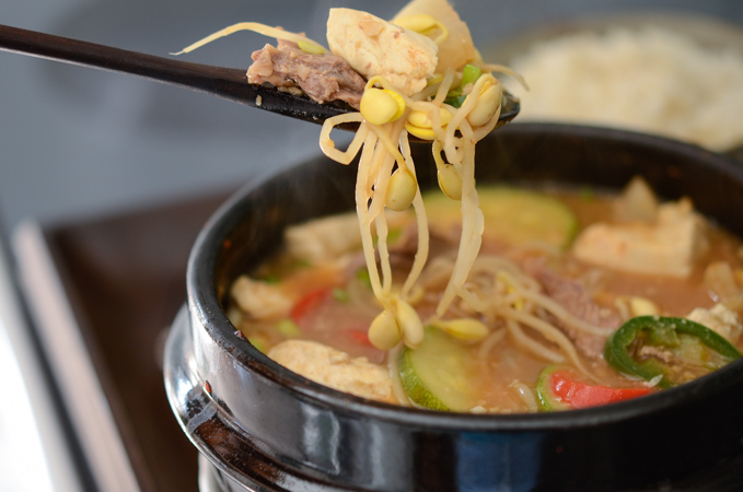 Beef and Bean Sprouts doenjang Jjigae