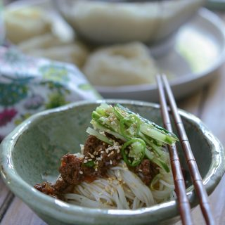 Korean Noodles with Beef Sauce