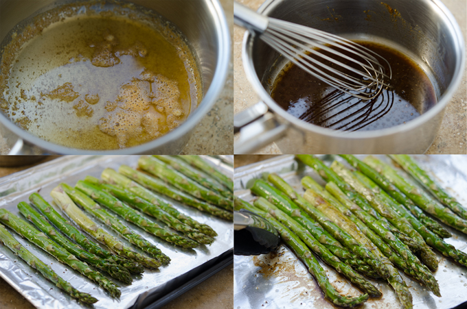 Roasted Asparagus with Brown Butter Balsamic Sauce