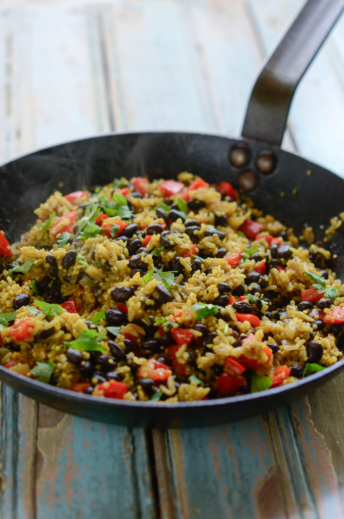 Black Bean Quinoa Curry Rice