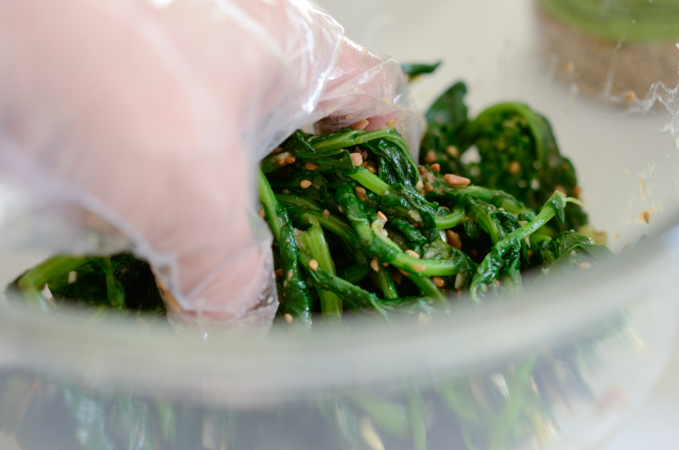 Broccoli Rabe Salad with Soybean Paste