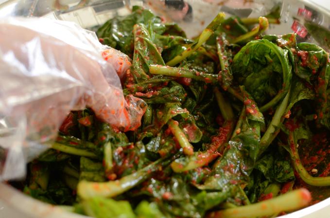 Turnip Green Kimchi
