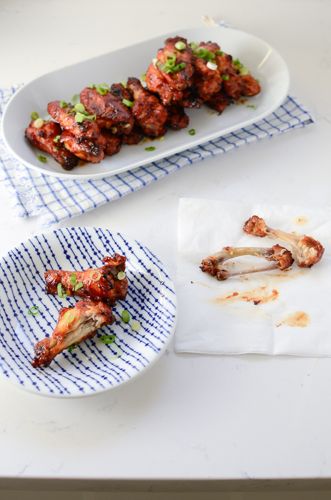 Baked Sweet and Spicy Sticky Chicken Wings