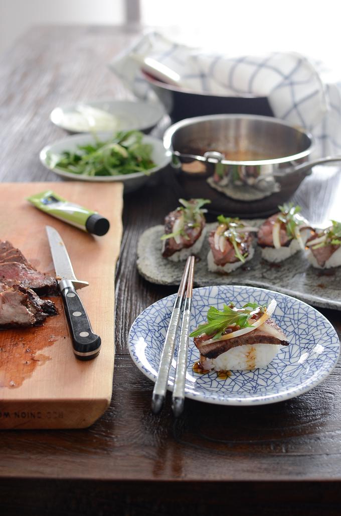 Beef Steak Sushi