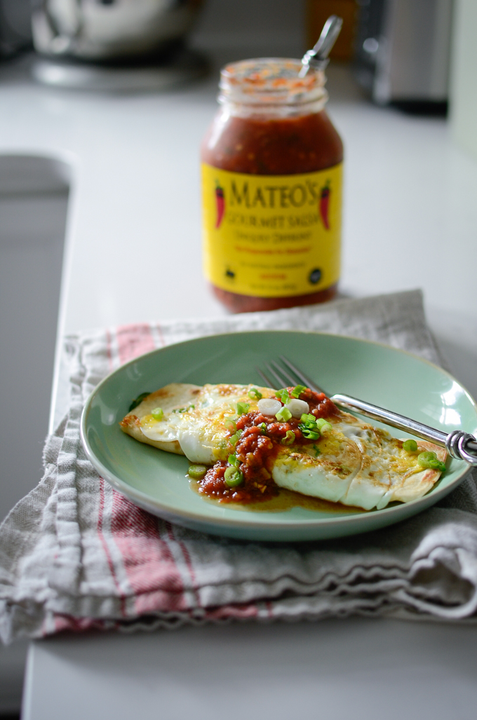 Quick Breakfast Stuffed Tortilla Egg Roll